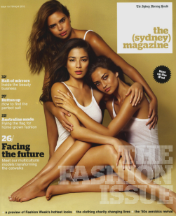 Sydney mag's April 2013 cover was also to die for. Featured Samantha Harris, Jessica Gomes & Shanina Shaik
