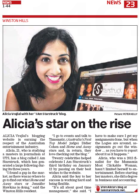 Alicia Vrajlal Hills Shire Times