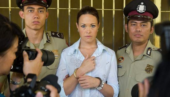 Krey Boylan plays Schapelle Corby in Channel 9's telemovie Image Source: Channel 9