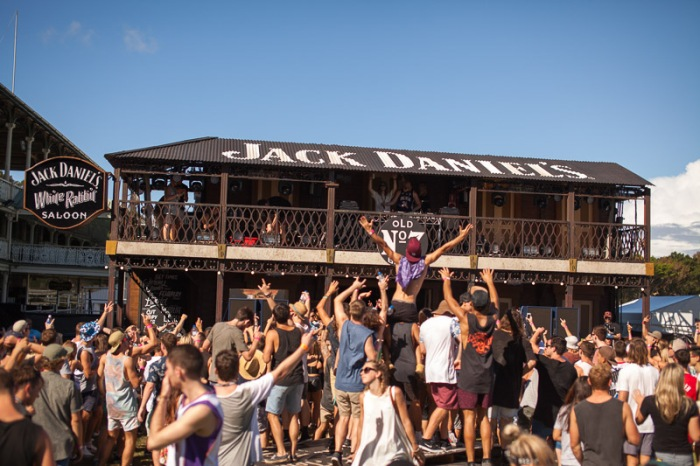 Festival Vibes at the Jack Daniel's White Rabbit Saloon Future Music Festival Sydney Image Source: The Sound Campaign