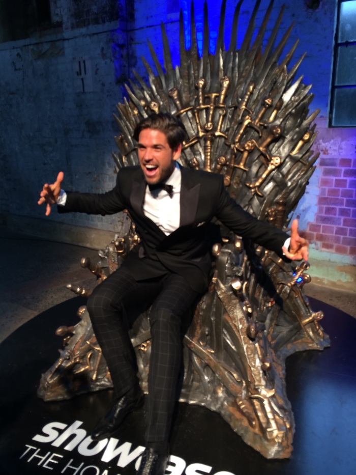 Didier Cohen gets into the Game of Throne spirit as he takes to the Iron Throne