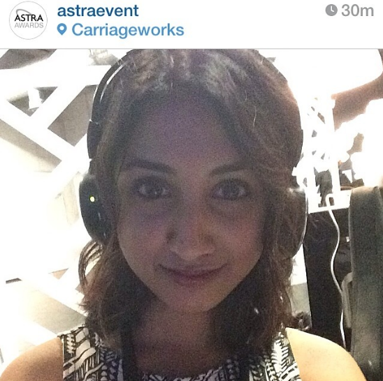 "Alicia ""Leeshie"" V typing up a storm as she tweets for ASTRA throughout the night"