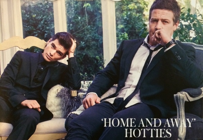 Jackson Gallagher and Steve Peacocke look effortlessly sexy  Image Source: Who Magazine