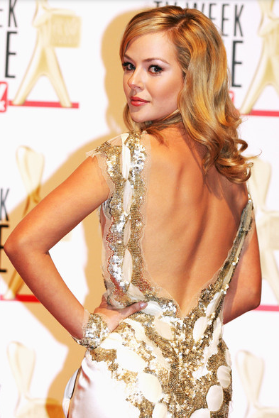 Jessica made her Logies debut in 2009 in a beaded satin gown with a low back  Image Source: Zimbio/Getty
