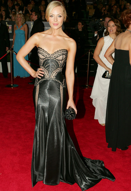 This J'Aton number would have to be our personal favourite Logies red carpet number of all time.  The gunmetal corset with intricate nude details is divine. Image Source: Zimbio/Getty