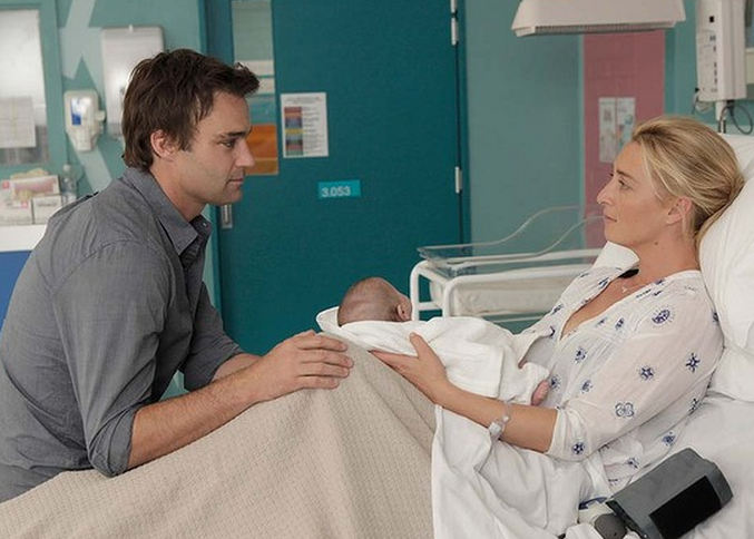 Matt Le Nevez with Asher Keddie on Offspring which returns to Aussie screens on Wednesday May 14 Image Source: Channel Ten
