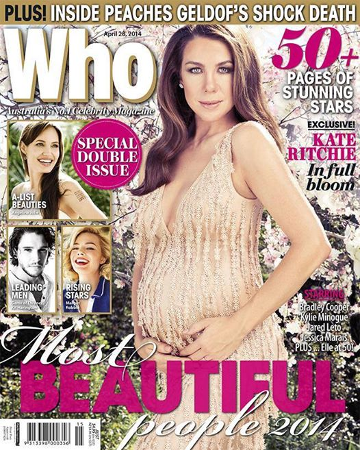 Kate Ritchie stuns the cover of Who Magazine's 2014 Beautiful People Issue  Image Source: Who Magazine