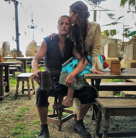 David stars in NBC drama Crossbones about pirates in which he plays Charles Rider Image Source: Natalie Blair Instagram