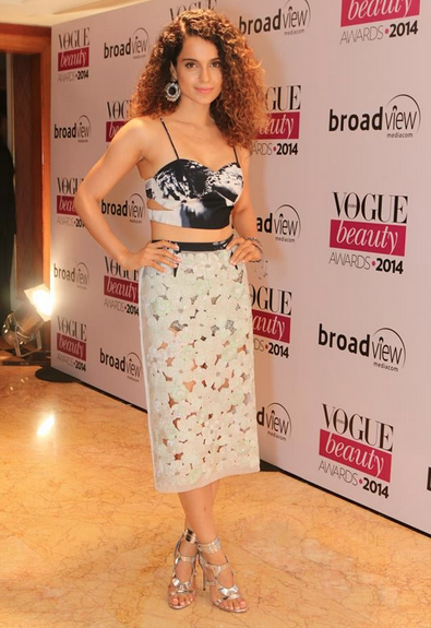 Kangana Ranaut at 2014 Vogue India Beauty Awards Image Source: Vogue India