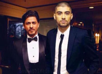 Shah Rukh Khan and Zayn Malik at 2015 Asian Awards