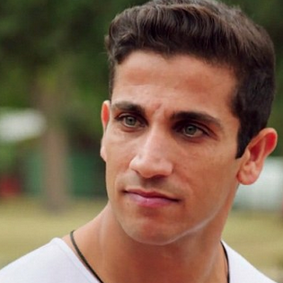 It looks like Indiana catches the eye of Firass Dirani who plays Justin Baynie Image Source: Channel Nine