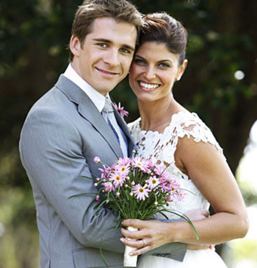 Zoe's character Melissa Bannon tied the knot with Ben Rafter played by Hugh Sheridan Image Source: Channel Seven