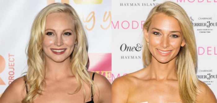 Is it just us, or could The Bachelor's Anna Heinrich and The Vampire Diaries actress Candice Accola seriously pass as twins?