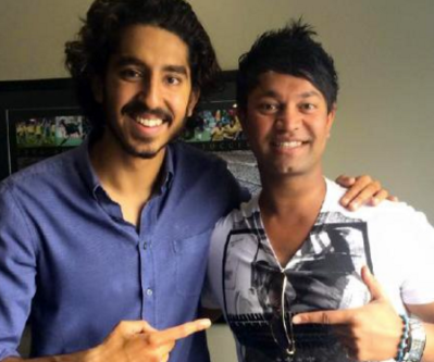 Dev Patel with Saroo Brierley