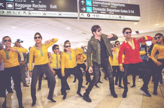 Sidharth Malhotra at Christchurch airport Image Source: Bollywood Dreams Facebook