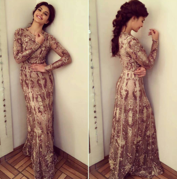 Jacqueline Fernandez wore Aussie designer Paolo Sebastian to the awards Source: Instagram