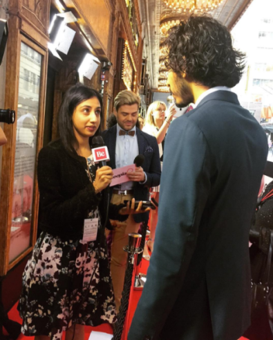 Interviewing Dev Patel at the Lion Sydney premiere in December 2016